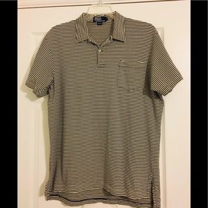 Polo Ralph Lauren Mens Short Sleeve Stripe Shirt L